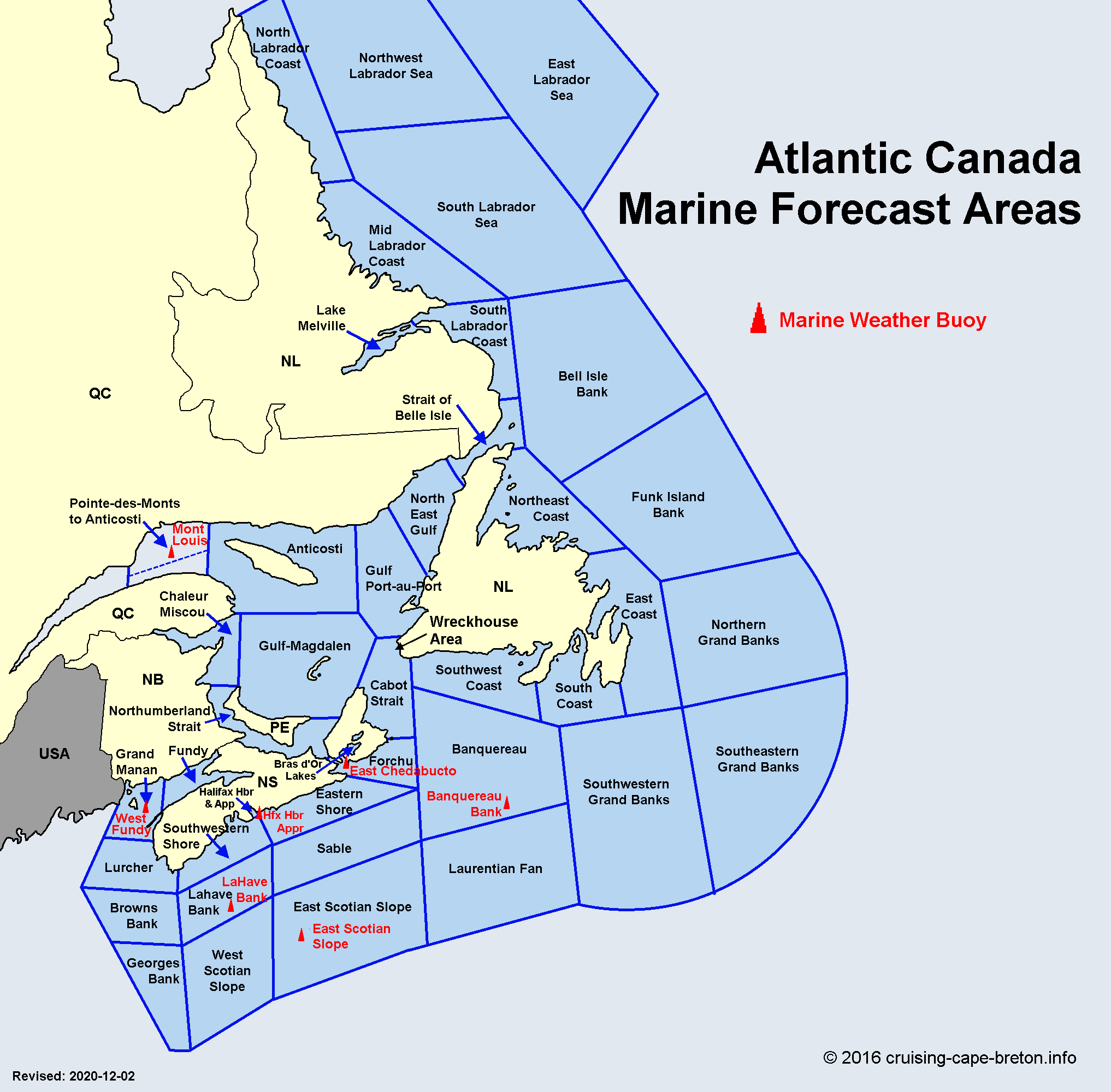 Marine Weather Forecast Information for Atlantic Canada