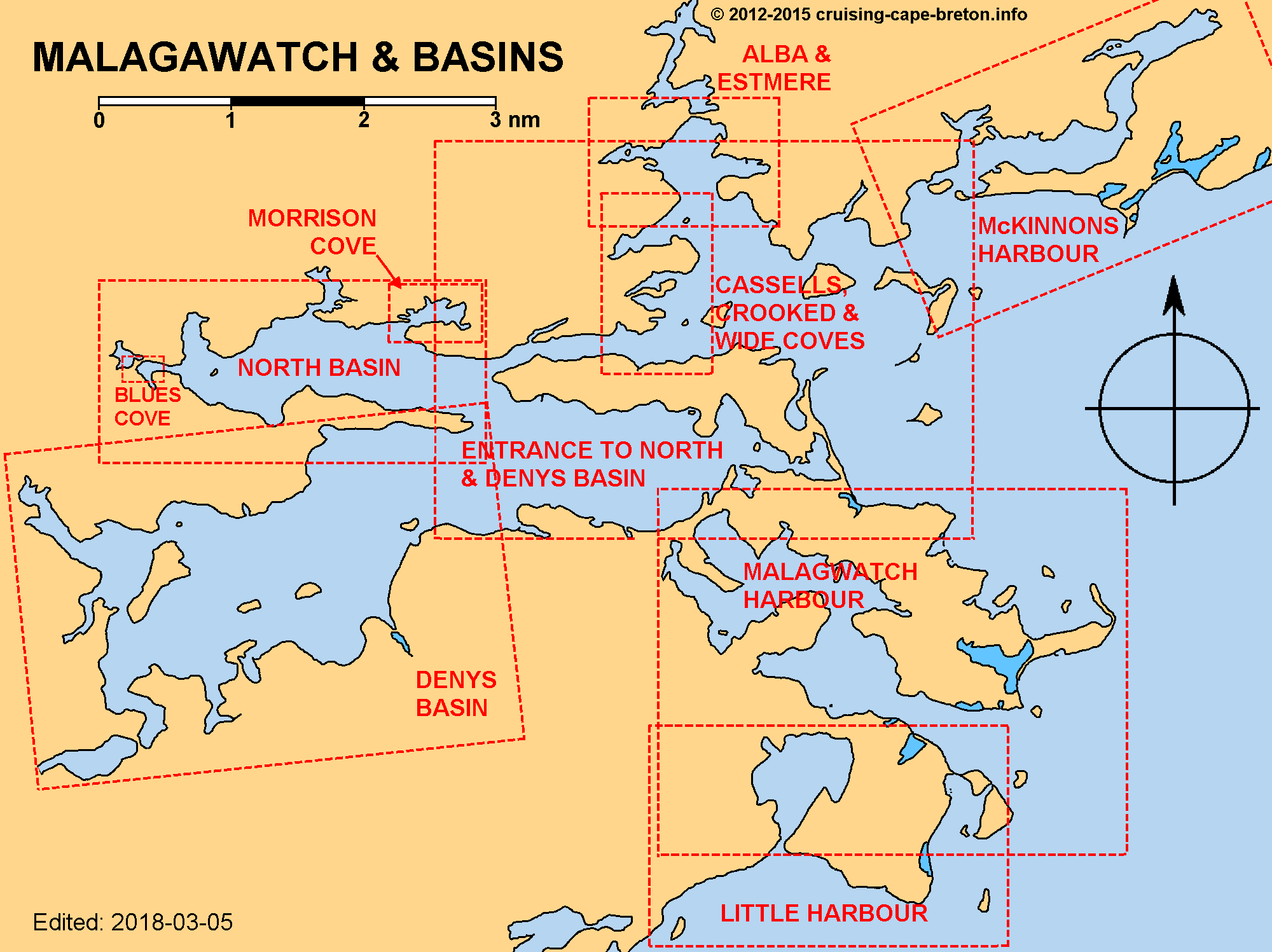 Key Chart to Malagawatch Basins