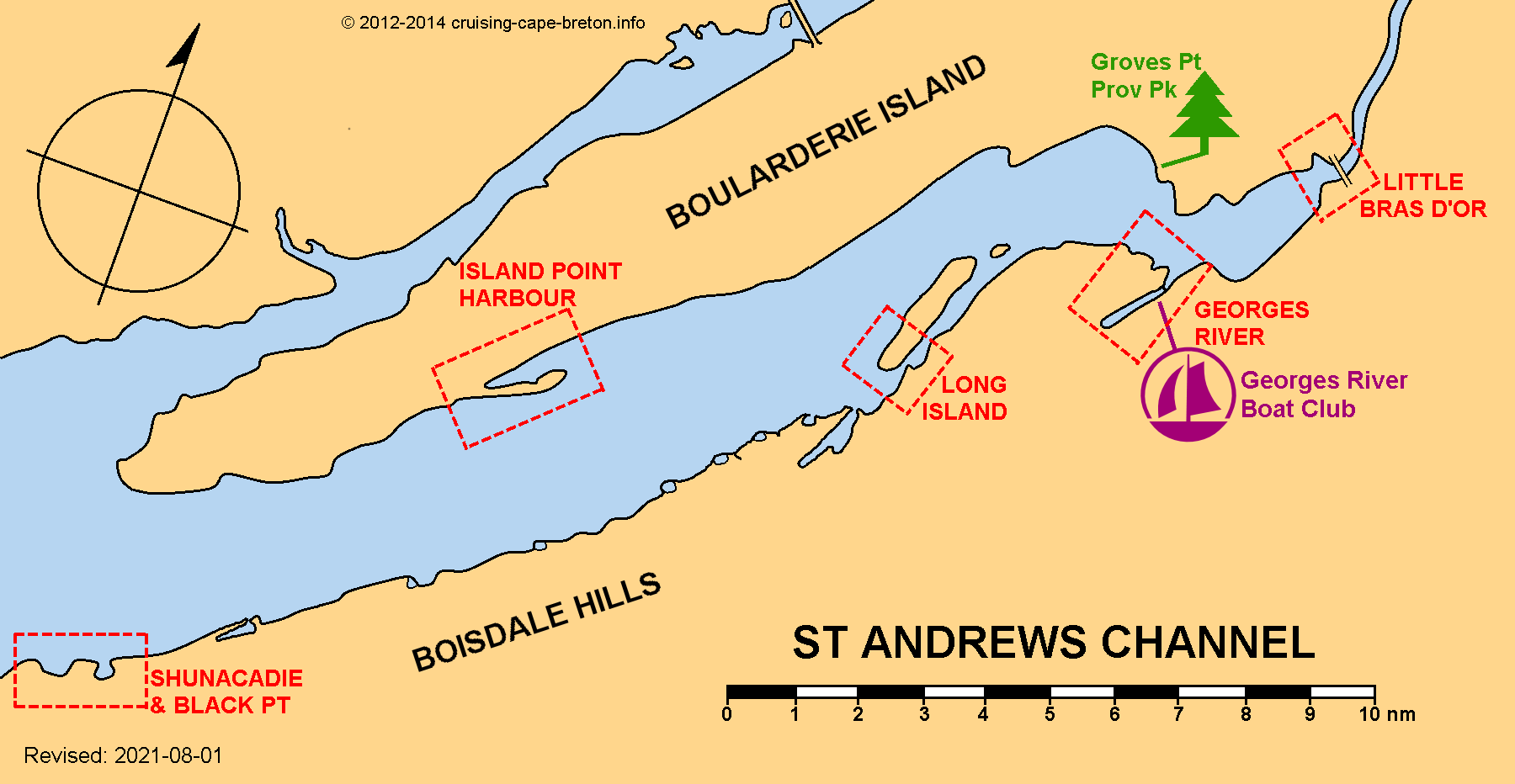 Key Chart to St Andrews Channel