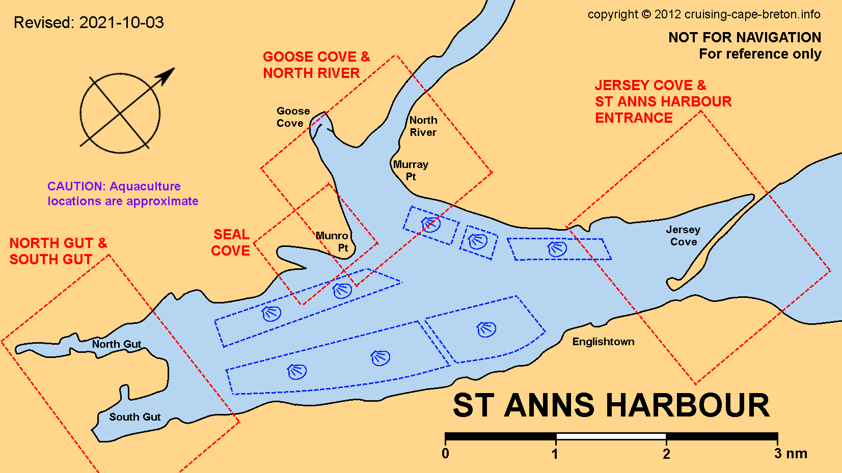Key Chart to St Anns Harbour