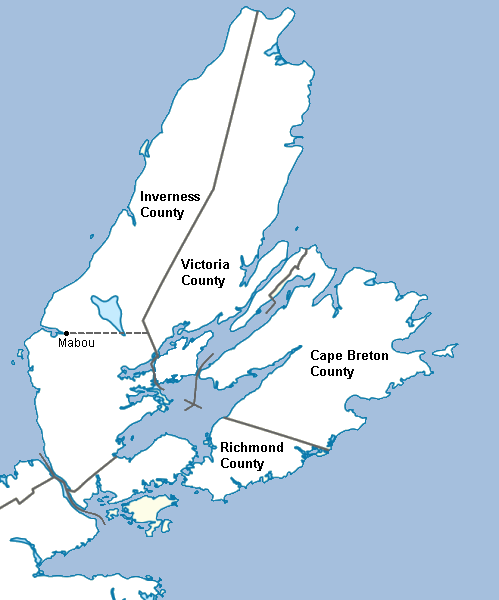 Map of Cape Breton Island